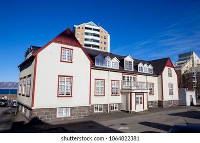 The historic landmark the French House located in the city of Reyjavik