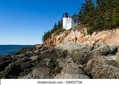 Historic Lighthouse, Acadia National Park, Maine, USA