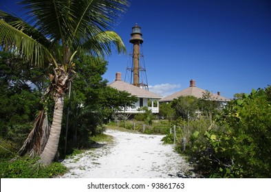 Historic Lighthouse on Sanibel Island, South Florida