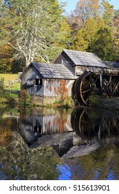 Historic Mabry Mill on the Blue Ridge Parkway in Meadows of Dan, Virginia in the fall