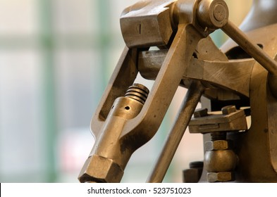 historic machines in macro photography