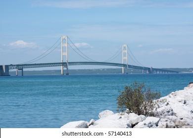 Historic Mackinac Bridge in Michigan