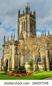 Historic Manchester Cathedral in Autumn