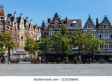 Historic market place in Ghent Belgium