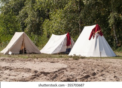 historic medieval holstyanoy, a cloth tent reconstruction holiday