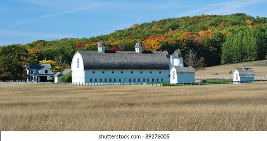 Historic Michigan barn and farm,Sleeping Bear Dunes National Lakeshore. USA