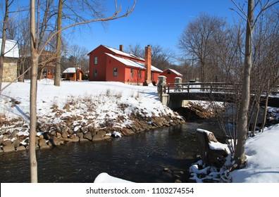 Historic Mill race village in Northville, Michigan