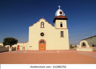 Historic Mission Ysleta along the El Paso Mission Trail in the State of Texas