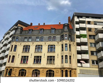 Historic and modern architecture in Cologne, Germany