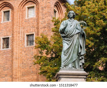 Historic Monument of Nicolaus Copernicus in Toru.  In the city where the famous astronomer lived