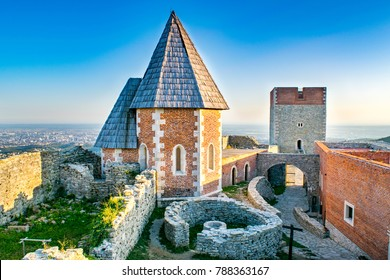 Historic Mountain Castle: Medieval Medvedgrad Castle on Zagreb's Medvednica (Mountain) in Summer, with City in Background - Zagreb, Croatia