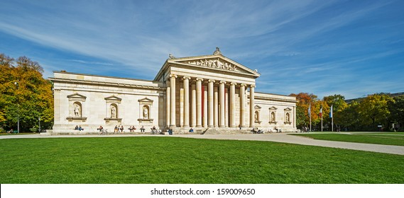 "The historic museum ""Glyptothek"" in Munich In Bavaria"