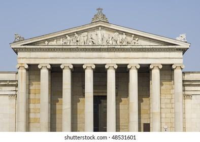 "The historic museum ""Glyptothek"" in Munich in Bavaria"