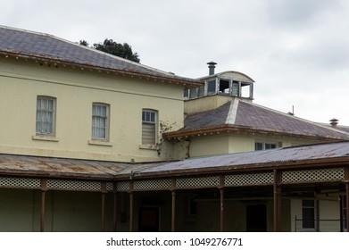 Historic and now decomissioned Aradale Lunatic Asylum in Ararat in country Victoria, Australia.