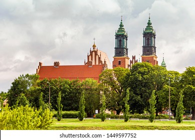 Historic old Basilica Peter and Paul church in Poznan