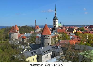 The historic old center of Tallinn.