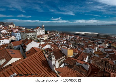 Historic old district Alfama,  Lisbon, Portugal