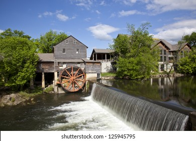 The historic Old Mill in Pigeon Forge was built in 1830 and remains the premier attraction in this town in the Smoky Mountains.