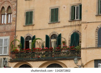 Historic old residential building in the old town of the Italian city of Lucca in the Tuscany region