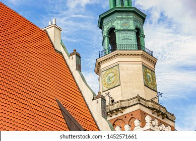 Historic old town hall building architecture in Poznan