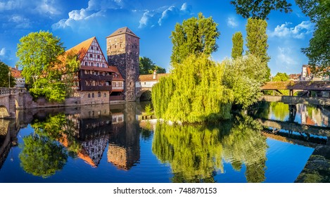 The historic old town of Nuremberg in Franconia