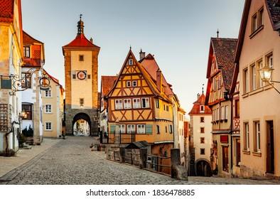 Historic old town in rothenburg ob der Tauber