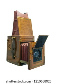 Historic old vintage cardan cameras of last century, for the studio.