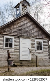 Historic One Room Pioneer Schoolhouse. Wooden one room schoolhouse at the Sturgeon Point State Scenic Site in Michigan. This is a state owned building and not a private property or residence.