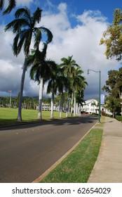 Historic Palm Circle, Army Base, Honolulu, Oahu, HI