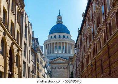 historic Pantheon in the Quartier Latin district in Paris, France