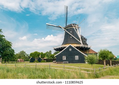 Historic Pelmolen in Overijssel Rijssen, The Netherlands, Windmill ter Horst