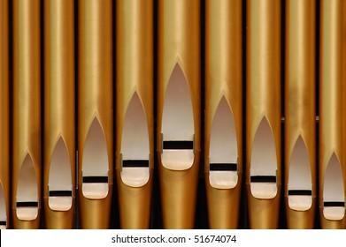 A historic pipe organ in church