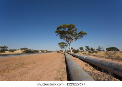 The historic pipeline from Perth to Kalgoorlie.