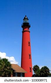 Historic Ponce De Leon Lighthouse, located in central Florida, near Port Orange and Daytona Beach