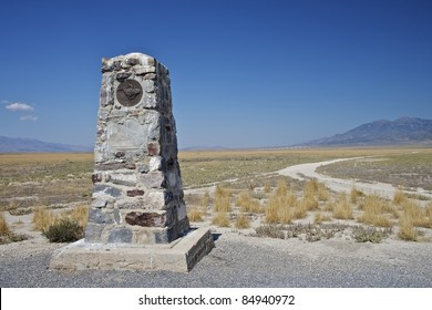 Historic Pony Express Marker near Dugway Utah on Simpson Springs Road