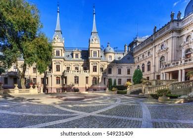 Historic Poznanski Palace, garden, Lodz, Poland