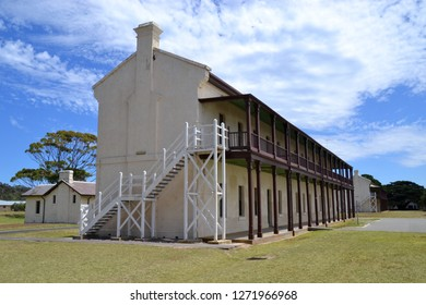 Historic quarantine hospital building at the immigration detention centre in Point Nepean National Park near Melbourne