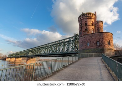 historic railway bridge in Mainz, Germany
