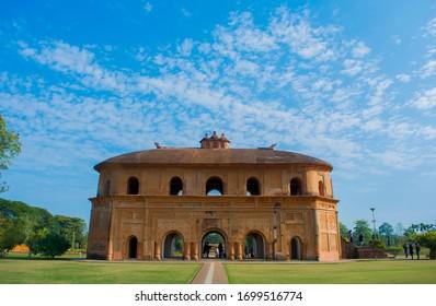 The historic Rang Ghar of Assam.