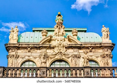 The historic rebuilt Zwinger in Dresden, Germany