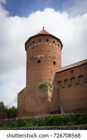 Historic red brick tower, old town