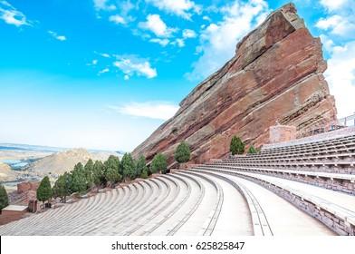 Historic Red Rocks Amphitheater near Denver, Colorado