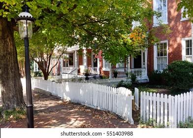 Historic restored Richmond, Virginia Churchill neighborhood. Horizontal.