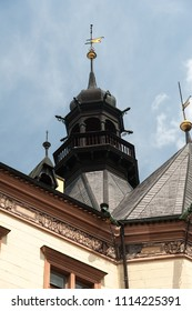 Historic roof with tower