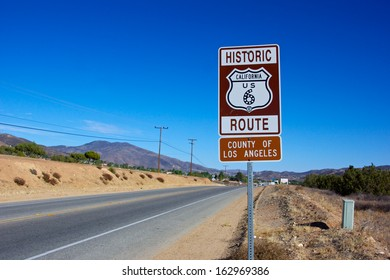Historic Route 6 passes through the Mojave Desert of southern California.