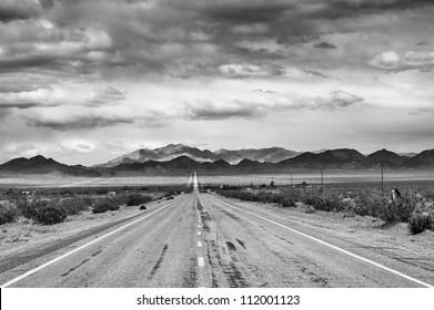 Historic Route 66 in Mojave desert, CA