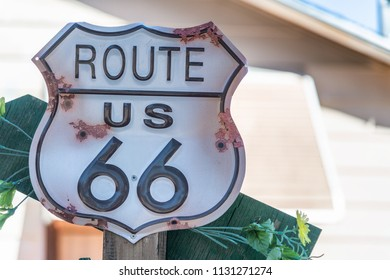 Historic Route 66 sign in Arizona.