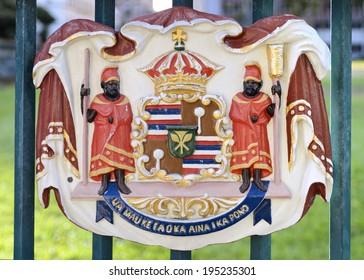 Historic Royal Seal at Iolani Palace
