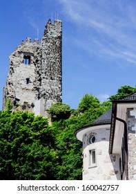 historic ruin at rhine, near Bonn (Germany)