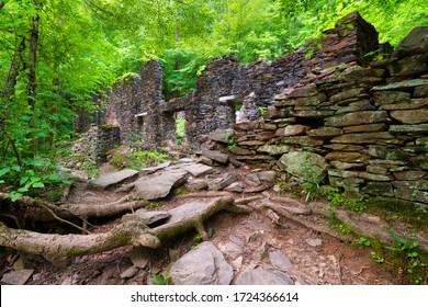 Historic ruins on hiking trail in Marietta, GA